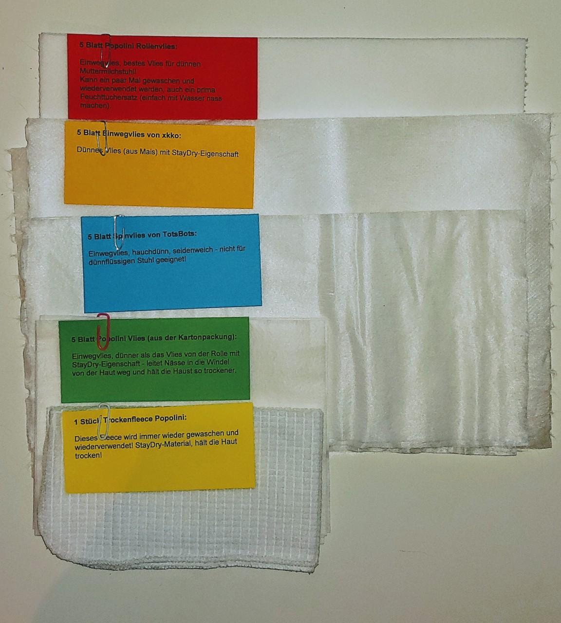 Windelvlies Testpäckchen Testpakete Stoffwindeln Windelparadies