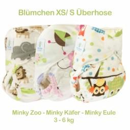 Blümchen Neugeborenen Überhose Minky