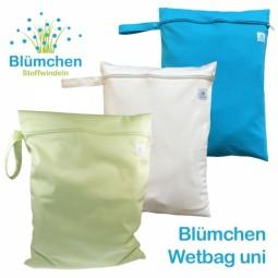 Blümchen Wetbag PUL unifarben (Zip)