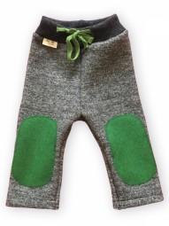 hu-da Longie Walkhose Grau-meliert / grün